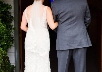 Hannah & Dad - About to walk down the aisle