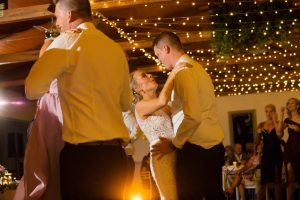 Hannah & Dylan First Dance under our Fairy Lights at a Lovedale Wedding Reception